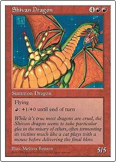 Shivan Dragon (Oversized)