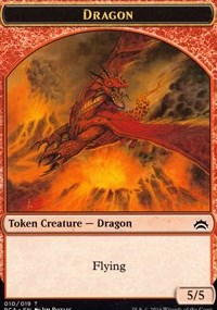 Dragon // Saproling Double-sided Token