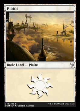 Plains (252) card from Dominaria