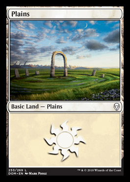 Plains (253) card from Dominaria