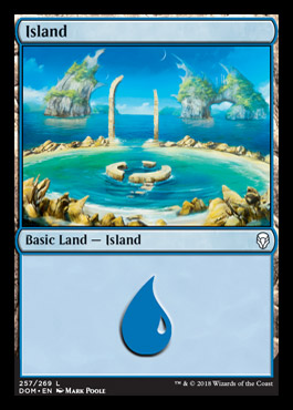 Island (257) card from Dominaria