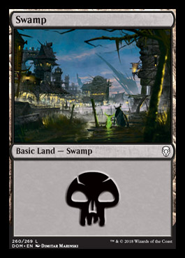 Swamp (260) card from Dominaria