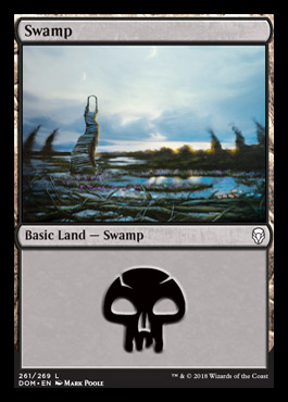 Swamp (261) card from Dominaria