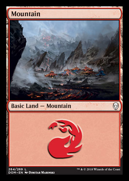 Mountain (264) card from Dominaria