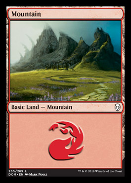 Mountain (265) card from Dominaria