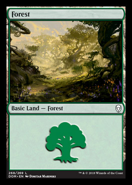 Forest (268) card from Dominaria