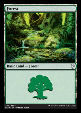 Forest (269) card from Dominaria
