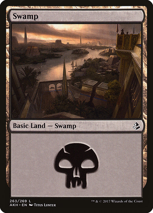 Swamp (263) card from Amonkhet