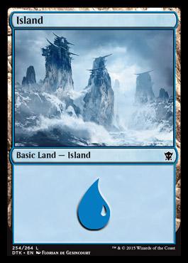 Island (254) card from Dragons of Tarkir