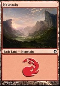 Mountain (36) card from Duel Decks: Heroes vs. Monsters