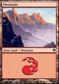Mountain (37) card from Duel Decks: Heroes vs. Monsters
