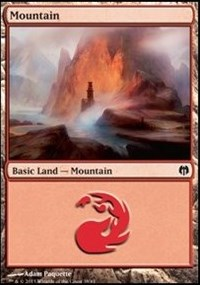 Mountain (38) card from Duel Decks: Heroes vs. Monsters