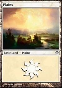 Plains (42) card from Duel Decks: Heroes vs. Monsters