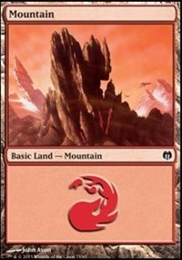Mountain (74) card from Duel Decks: Heroes vs. Monsters