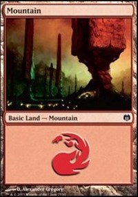 Mountain (75) card from Duel Decks: Heroes vs. Monsters