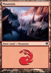 Mountain (77) card from Duel Decks: Heroes vs. Monsters
