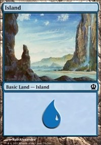 Island (234) card from Theros