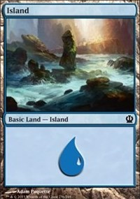 Island (236) card from Theros