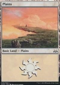 Plains (28) (Divine vs. Demonic) card from Duel Decks: Anthology
