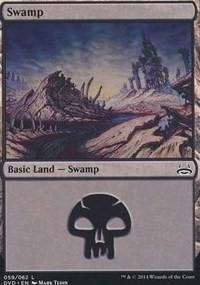 Swamp (59) (Divine vs. Demonic) card from Duel Decks: Anthology