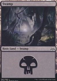Swamp (61) (Divine vs Demonic) card from Duel Decks: Anthology