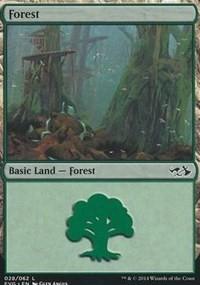 Forest (28) (Elves vs Goblins) card from Duel Decks: Anthology