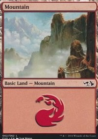 Mountain (62) (Goblins vs Elves) card from Duel Decks: Anthology