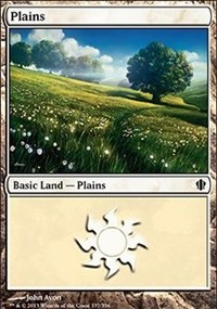 Plains (337) card from Commander 2013 Edition
