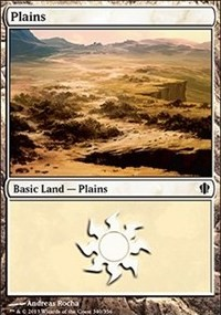 Plains (340) card from Commander 2013 Edition