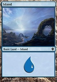 Island (341) card from Commander 2013 Edition