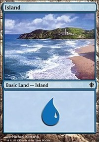Island (343) card from Commander 2013 Edition