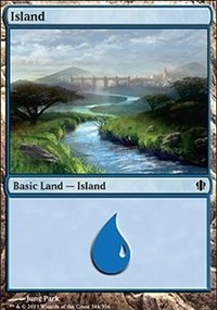 Island (344) card from Commander 2013 Edition