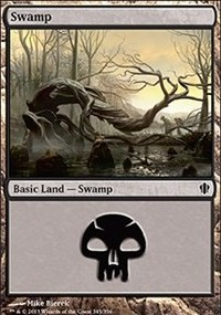 Swamp (345) card from Commander 2013 Edition