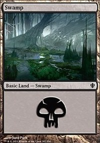 Swamp (347) card from Commander 2013 Edition