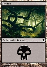 Swamp (348) card from Commander 2013 Edition
