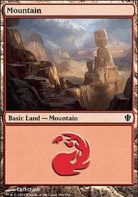 Mountain (349) card from Commander 2013 Edition