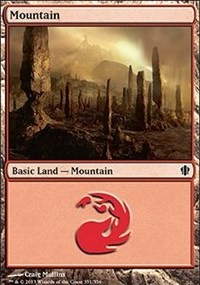 Mountain (351) card from Commander 2013 Edition