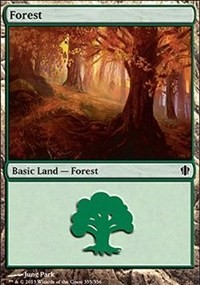 Forest (355) card from Commander 2013 Edition
