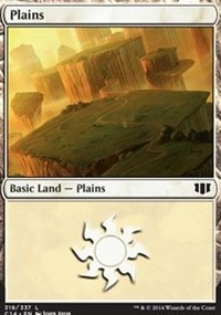 Plains (318) card from Commander 2014