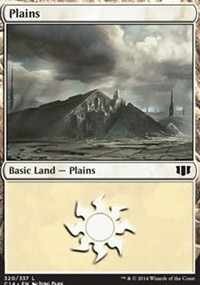 Plains (320) card from Commander 2014