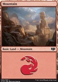 Mountain (330) card from Commander 2014