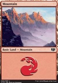 Mountain (332) card from Commander 2014