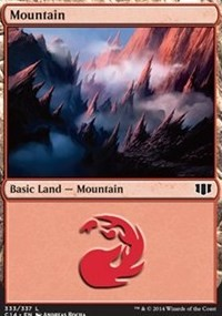 Mountain (333) card from Commander 2014