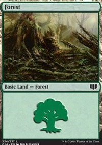 Forest (334) card from Commander 2014