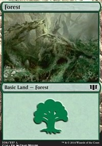 Forest (336) card from Commander 2014
