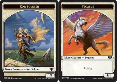 Kor Soldier // Pegasus Double-sided Token