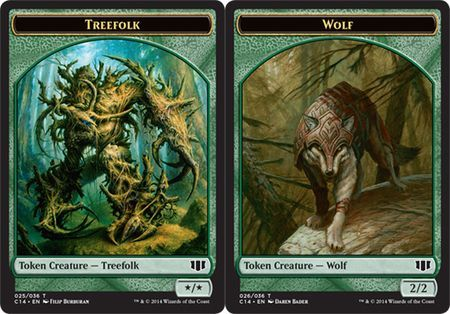 Treefolk // Wolf Double-sided Token