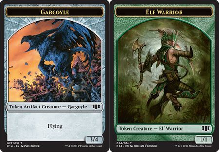 Gargoyle // Elf Warrior Double-sided Token