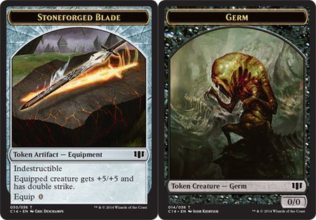 Stoneforged Blade // Germ Double-sided Token