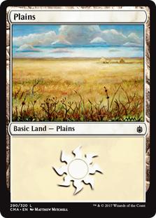 Plains (290) card from Commander Anthology